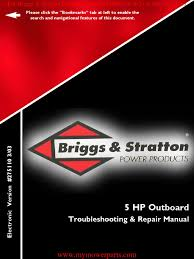 outboard repair manual e book 275110 briggs u0026 stratton