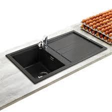 evier cuisine noir 1 bac evier à encastrer best noir 1 bac 1 égouttoir installez un évier