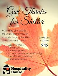 give a gift of shelter for thanksgiving