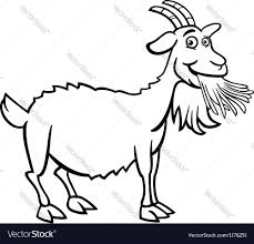 farm goat cartoon for coloring book royalty free vector
