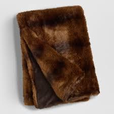 Pottery Barn Fur Blanket Ivory Faux Fur Throw World Market