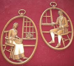 vintage syroco syracuse ornamental company pair wall mount