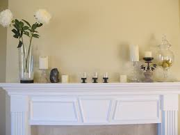 Room Decoration With Flowers And Candles Decorations Charming White Fireplace Mantel Decorating Ideas
