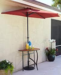 Half Umbrella Patio Outdoor Furniture Hammock Swing Chairs Half Umbrellas Lakeside