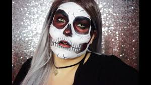 glitter skull halloween makeup tutorial youtube