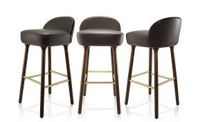 designer bar stools contemporary bar stool oak walnut leather beetley se london