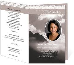 printable funeral programs 214 best creative memorials with funeral program templates images