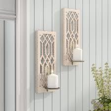 lark manor deco mirror wall sconce u0026 reviews wayfair