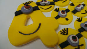 edible minions fondant minion birthday set edible minion cupcake toppers and