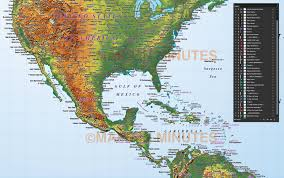 Us Relief Map North America Strong Relief Map In Illustrator Cs Format