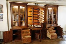Plans For Gun Cabinet Amish Made Custom Gun Cabinets The Wood Loft Amish Custom Made