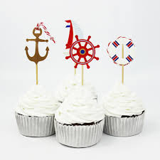 Ocean Cake Decorations Aliexpress Com Buy 48pcs Ocean Theme Party Supplies Cartoon
