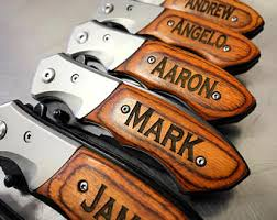 Personalized Groomsmen Knives Engraved Knives Etsy