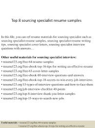 sample contract specialist resume top8sourcingspecialistresumesamples 150402095417 conversion gate01 thumbnail 4 jpg cb 1427986504