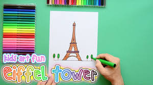 how to draw and color the eiffel tower paris youtube