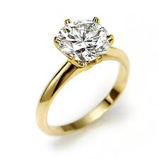 gold engagment rings gold vermeil cut solitaire cz engagement ring 3 5ct