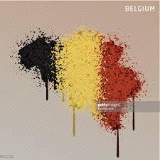 Belgia Flag Belgium Flag Color Paint Graffiti Map Grunge Vector Art Getty Images
