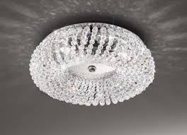 kitchen flush ceiling lights carla crystal small flush ceiling light chrome kolarz lighting