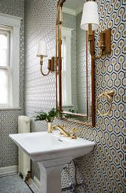 wallpaper bathroom ideas bathroom gorgeous bathroom wallpaper with geometric pattern also
