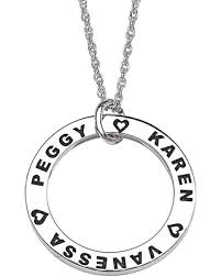Personalized Disc Necklace Don U0027t Miss This Deal Mbm Sterling Silver Family Name Engraved