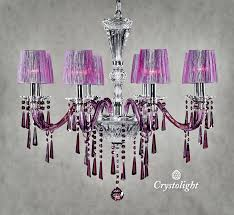 New Chandeliers Murano Chandelier 8 Arms Purple With Covers Crystolight Chandeliers