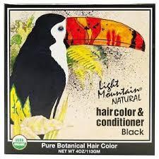 light mountain natural hair color black light mountain black henna hair color conditioner 4 oz