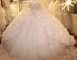 aurora borealis see through corset wedding dress 3 meter wide