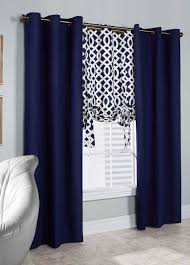 Navy Blue And White Curtains Home Decor Amusing Navy Window Curtains With Stripe Blue Curtain