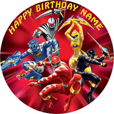 power rangers cake toppers power rangers edible birthday cake or cupcake topper edible