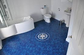 flooring ideas blue abstract vinyl bathroom floor with pattern by