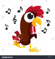 vector illustration cartoon rooster chicken doing stock vector