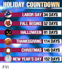 countdown labor day 34 days fall begins 52 days
