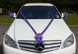 car ribbon cadbury purple wedding car decoration kit large bows 7m ribbon