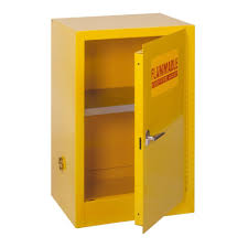 Yellow Flammable Storage Cabinet Edsal 35 In H X 23 In W X 18 In D Steel Freestanding Flammable