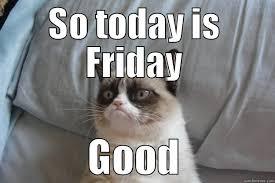 Grumpy Cat Friday Meme - friday it s the weekend quickmeme