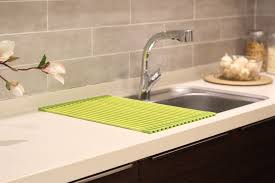 Introducing Innovative Silicone Drying RackRollmat Sink - Kitchen sink with drying rack