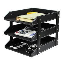 Desk Filing Organizer Sale 2017 Pu Leather Office Desktop Filing Tray Ezeso File