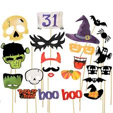 Halloween Photo Booth Props Halloween Decoration 16 22 Pcs Lot Photo Booth Props Mascara Mask
