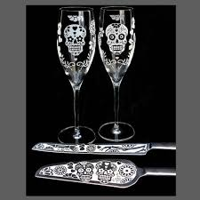 day of the dead wedding cake day of the dead wedding cake server chagne flute set