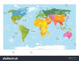 vector map world countries america eurasia stock vector 527789365