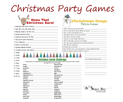 christmas party games ideas christmas tree