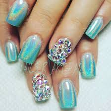 teal unicorn these holographic nails will give you major nail
