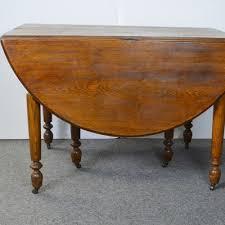 Drop Leaf Oak Table Furniture Auctions Vintage Furniture Auction Antique