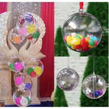 clear plastic fillable ornaments circle spheres filler