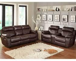 finish reclining sofa set marille by homelegance el 9724brw set