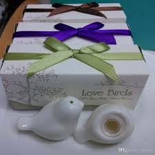 communion favors wholesale wedding giveaways ceramic birds salt and pepper shakers festive