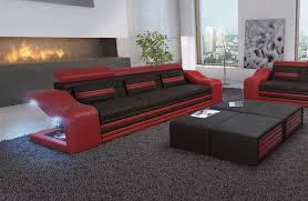 sofa mit led beleuchtung 3 sitzer mirage ledersofa in der nativo möbel filiale frankfurt kaufen
