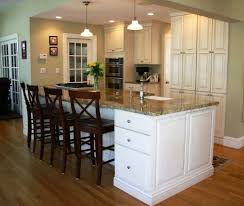 kitchen islands with cooktops two tone with wall removal cooktop and sink in island indoor