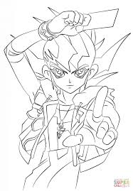 zexal from yu gi oh coloring page free printable coloring pages