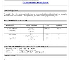 sample cvs for freshers resume resume formaty nice resume format for freshers mechanical